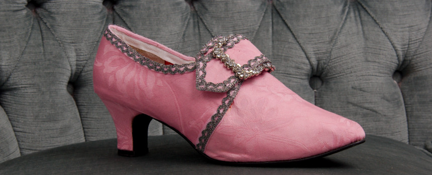 pink 18th century shoes