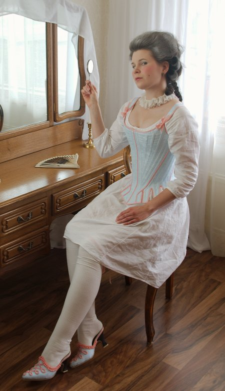 The beauty of corset craftsmanship light blue stays by for Couture a nice